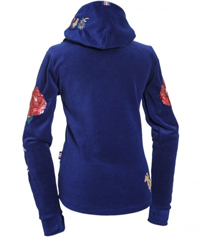 Fleece Jacke Feur blue back