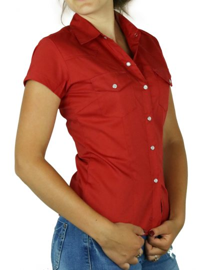 Bluse uni red