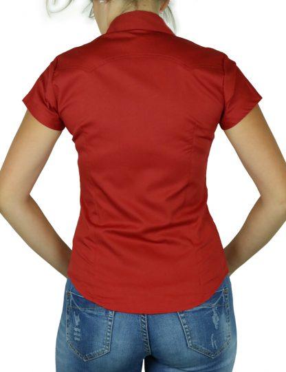 Bluse uni red Details