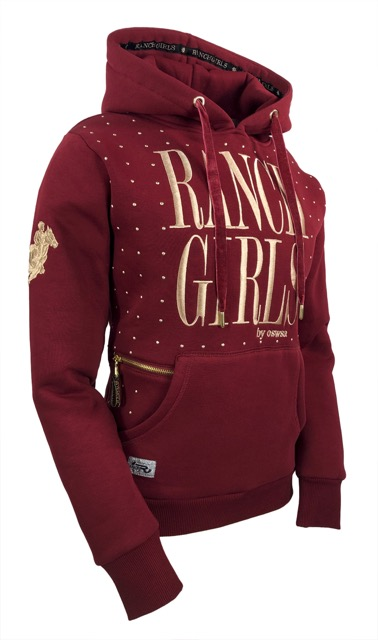 Ranchgirls Hooded Dot red vine